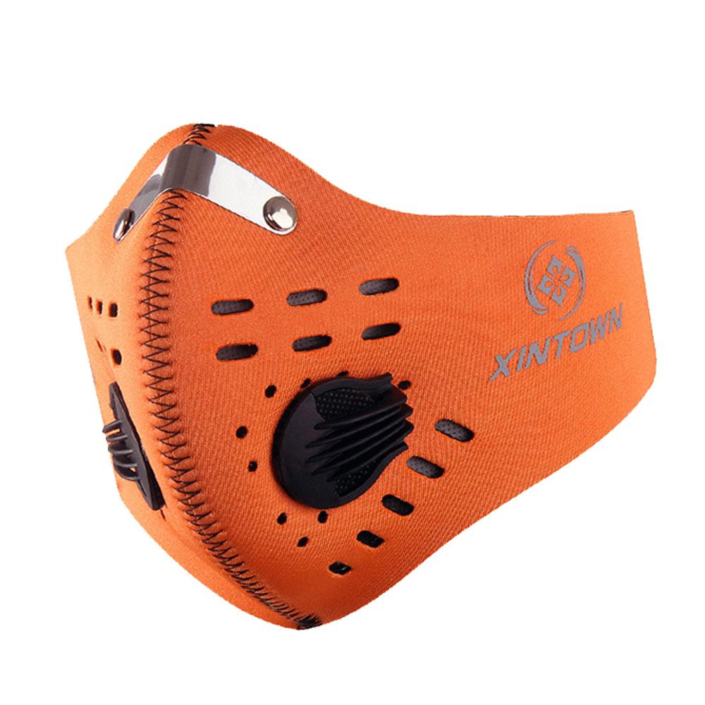 xintown-mask-หน้ากากกันฝุ่น-จักรยาน-ส้ม