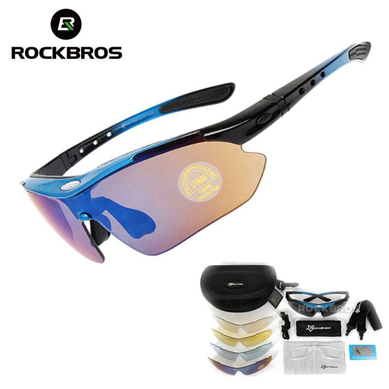 แว่นตาปั่นจักรยาน ROCKBROS แว่นกันแดดจักรยาน 5 เลนส์